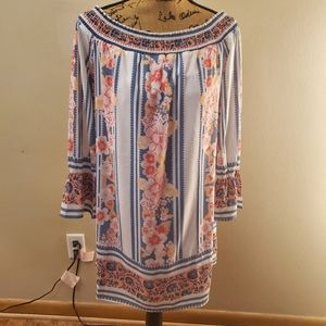 Forever 21 Boho Paisley Floral Tunic Dress Small